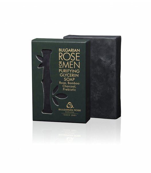 Exclusive Men Purifying Glycerin Soap with Bamboo Charcoal and Prebiotic 80g