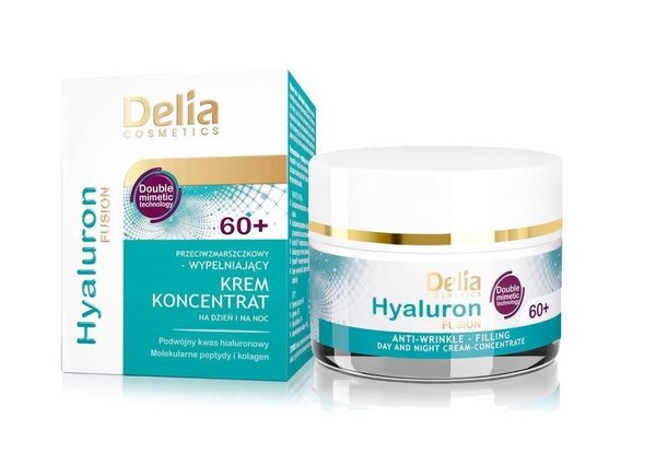 Delia Care Hyaluron Fusion Anti-wrinkle Lifting Day, Night Cream Concentrate 60+