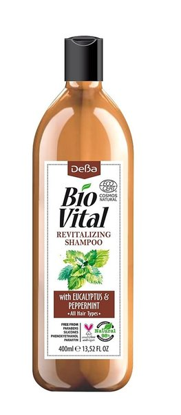 Bio Vital Revitalising Shampoo with Eucaliptus and Peppermint, Vegan 400ml