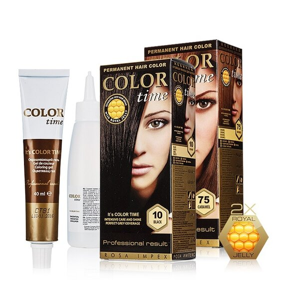 Color Time Permanent Hair Dye with Royal Jelly - 26 Stylish And Natural Shades