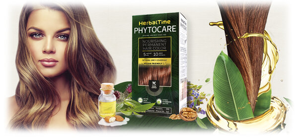 PhytoCare Nourishing Permanent Hair Colour with 5 natural oils, Vegan Friendly