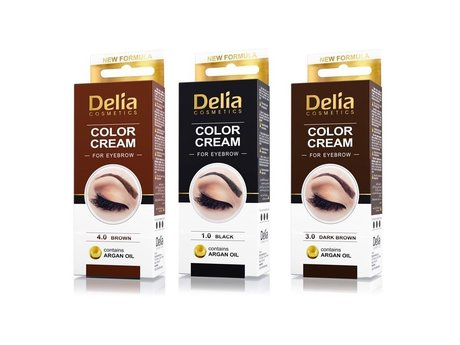 Delia Henna Colour Cream for Eyebrows with Argan Oil, Professional Kit Set