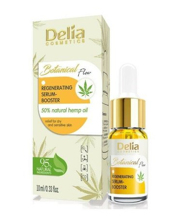 Botanical Flow Regenerating Serum Booster with Hemp Oil 95% Natural Ingredients