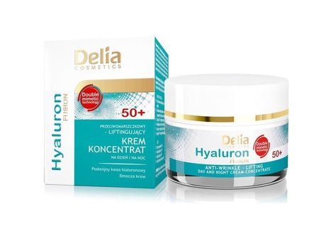 Delia Care Hyaluron Fusion Anti-wrinkle Lifting Day, Night Cream Concentrate 50+