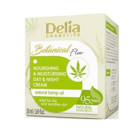 Botanical Nourishing Moisturizing Day Night Face Cream with Hemp Oil 95% Natural Product