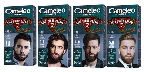 Cameleo Men Permanent Hair Color Cream, Ammonia Free, Effectively Covers Grey Hair
