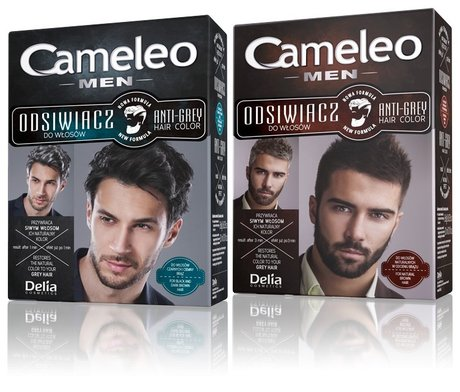 New Men Care Anti Grey Hair Color with Biotin - Restores the natural color of grey hair