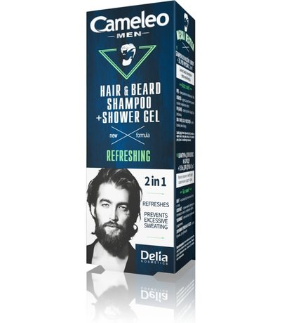 Men Care New Formula Refreshing Hair and Beard Shampoo and Shower Gel 2in1