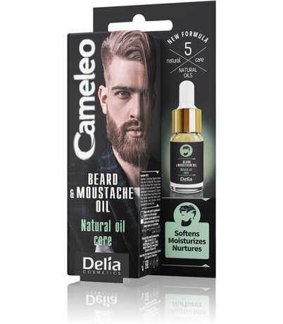 Natural Men Care Beard and Moustache Oil, Softens Moisturizes, Nurtures - New Product