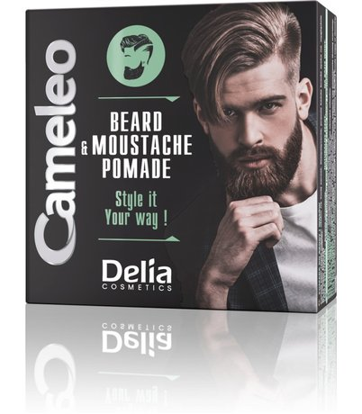 Cameleo Men Hair and Beard Pomade with Argan Oil, medium ficsa