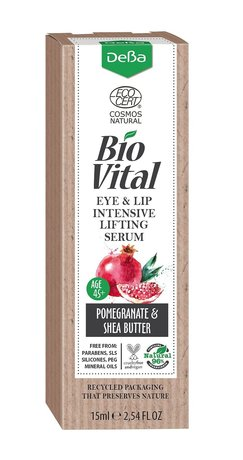 Bio Vital Eye and Lip Contour Intensive Lifting Serum with Pomegranate Extract, Vegan, 96% Natural Ingredients