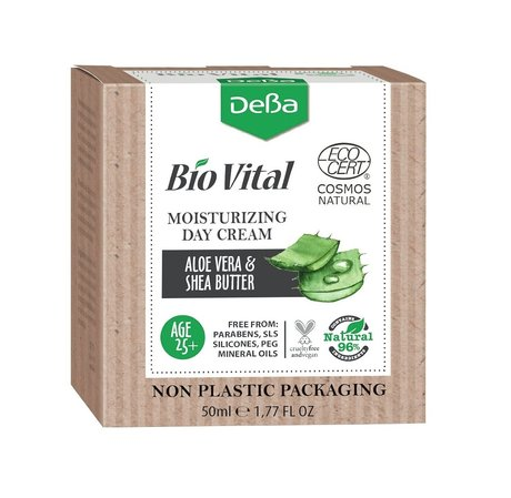 Bio Vital Moisturising Face Cream with Aloe, Vegan, 96% Natural Ingredients