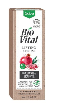 Bio Vital Intensive Face Lifting Serum with Pomegranate Extract, Vegan, 96% Natural Ingredients