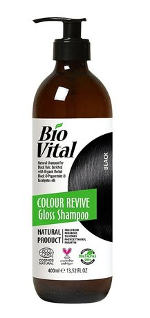 Bio Vital Natural Shampoo for Black Hair with Organic Herbs, Vegan 400ml