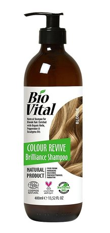 Bio Vital Natural Shampoo for Blond Hair with Organic Herbs, Vegan 400ml