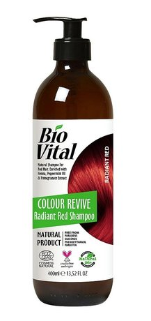 Bio Vital Natural Shampoo for Red Hair with Organic Herbs, Vegan 400ml