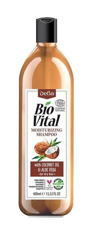 Bio Vital Moisturising Shampoo with Coconut and Aloe Vera, Vegan 400ml