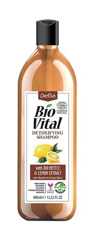 Bio Vital Detoxifying Shampoo with Bio Nettle and Lemon, Vegan 400ml