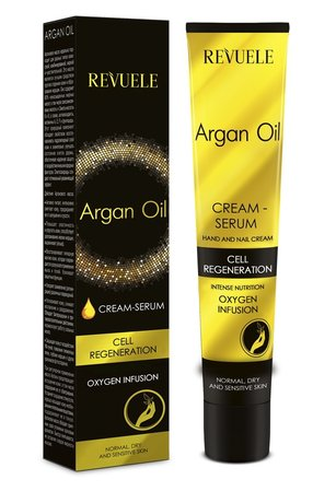 Revuele Argan Oil Cream Serum for Hands and Nails, 50ml