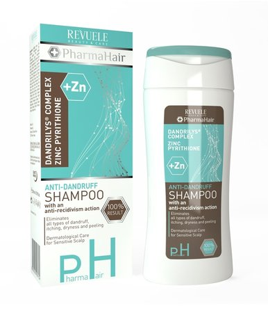 Pharma Hair Anti Dandruff Shampoo with Zinc Pyrithione,  Antirecedive Effect 200ml