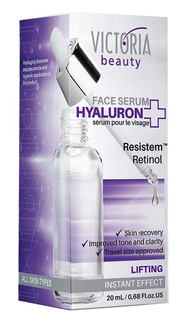 Hyaluron+ Lifting Face Serum with Hyaluronic Acid, Retinol and Plant Stem Cells, 20ml
