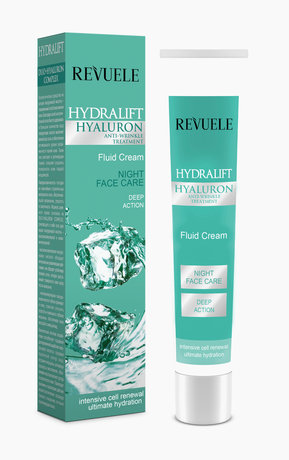 Revuele Hydralift Hyaluron Lifting Night Fluid Cream, Anti-wrinkle 50ml