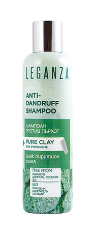 Leganza Anti-Dandruff Shampoo with Pure Clay and Zinc Pyrithione  200ml